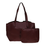Tips Beli Zada Semi Formal Tote Bag Wanita Bonus Big Pouch Maroon
