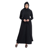 Diskon Zada Set Atasan Celana Dan Hijab Hitam Branded
