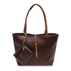Zada Tote Bag with Mini Pouch - Cokelat.