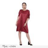 Toko Zada X Ayla Danila Dress Maroon Murah Di Indonesia