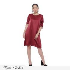 Beli Zada X Ayla Danila Dress Maroon Kredit