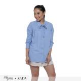 Spesifikasi Zada X Ayla Ribbon Oversize Top Biru Bagus