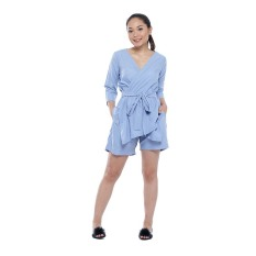 Cuci Gudang Zada X Ayla Set Top And Pants Blue