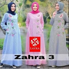Zaharra Maxi Dress/Gamis Katun Bordir/Maxi Katun Bunga/Baju Muslim/Baju Remaja/Gamis Katun Bordir