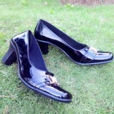 Review Zahwa Sepatu Wanita Formal Sepatu Kerja Sepatu Pantofel Z01 Hitam Di Jawa Timur