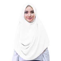 Zaina Syar'i Hijab Kerudung Instan - [Warna Putih Tulang]