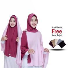 Zannah Hijab Jilbab Instant Bergo Jannah Jilbab Mukena Khimar Jumbo Dua Warna Instan Termurah Multifungsi Fashion Jaman Now Modern Model Sekarang Paling Laris Best Seller