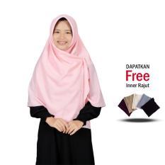 Zannah Hijab Jilbab Segi4 Wolfis Premium Segi Empat Persegi Jilbab Jumbo Syari Khimar Segi4 Termurah Paling Laris Atasan Dress Muslim Gamis Syari Jumbo Busui Freindly Jilbab Polos All Size 130cm Best Seller - Free inner