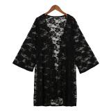 Zanzea 2016 Kardigan Wanita Seksi Panas Musim Yang Elegan Renda Bordir Kimono Dicungkil Pemukiman Blus Kaos Pantai Lebih Baik Tahan Terhadap Dr Blusas Puncak Hitam Hong Kong Sar Tiongkok