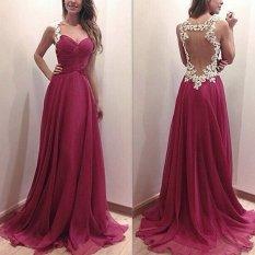 Harga Zanzea 2017 Partai Bola Prom Gaun Formal Bridesmaid Cocktail Lace Long Dress M Xl Merah Warna C0 Intl Oem Ori