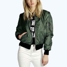Spesifikasi Zanzea 2018 Fashion Coats Women Autumn Winter Thin Jacket Bomber Long Sleeve Coat Casual Stand Collar Oversized Outerwear Army Green Intl Zanzea Terbaru