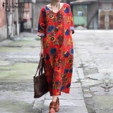 zanzea-3-colors-women-floral-print-dress-loose-maxi-long-dress-casual-34-sleeves-v-neck-party-split-hem-robe-kaftan-plus-size-red-intl-2486-87872177-8d5c14ca459487e05580816d9f087d8c-catalog_233 Koleksi List Harga Gaun Muslim Pesta Sederhana Terbaru 2018