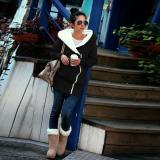 Ulasan Zanzea Gugur Musim Dingin Fashion Wanita Berkerudung Panjang Sweatshirt Hangat Ritsleting Ngomong Batak Pakaian Jaket Hoodie Jaket Tipis Jalan Pemukiman Ukuran Lebih Cahaya Hitam 45 Internasional