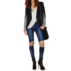 ZANZEA Kirain dengan Jaket Wanita Lengan Baju Panjang Payet