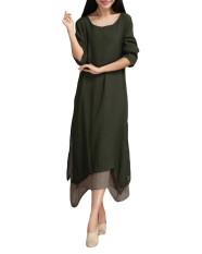 Perbandingan Harga Zanzea Sprei Katun Panjang Kasual Madi Kaftan Panjang Baju Gaun Lengan Cewe Perempuan Kopi Zanzea Di Hong Kong Sar Tiongkok