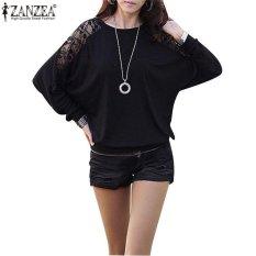 Harga Zanzea Fashion Kasual Wanita Berwarna Kuning Eye Longgar Renda Atasan Blus Kaos Lengan Panjang Ukuran Lebih Hitam Internasional Yg Bagus
