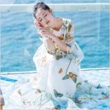Zanzea Jvivi Elegan Wanita Panjang Gaun Sulaman Butterfly Mesh Gaun Patchwork Perempuan Pesta Gaun Pantai Intl Terbaru