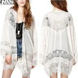Jual Zanzea Wanita Bohemian Chiffon Kimono Renda Merenda Bunga Panjang Longgar Cardigan Putih Intl Zanzea Asli