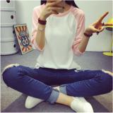 Toko Zanzea New Fashion Wanita Colorblock Kasual Lengan Panjang Blus Kaos Pink Intl Terlengkap Di Hong Kong Sar Tiongkok