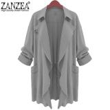Spesifikasi Zanzea Sifon Wanita Berkerah Jaket Kardigan Parka Baru Abu Abu Internasional Lengkap Dengan Harga