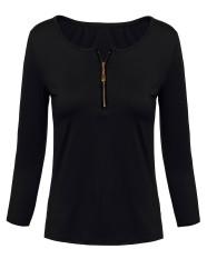 Spesifikasi Zanzea Seksi Leher V 3 4 Lengan Baju Kerudung Baju Wanita Atasan Sweater Musim Dingin Yang Bagus