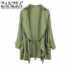 Harga Hemat Zanzea Perlindungan Matahari Mode Wanita Pakaian Longgar Kelepak Setelan Cardigan Intl