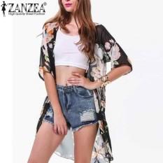 Ulasan Lengkap Zanzea Wanita Floral Jersey Rayon Tipis Kardigan Jaket Mantel Pakaian Renang