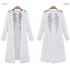 Beli Zanzea Wanita Lengan Panjang Kasual Buka Kimono Mantel Panjang Kardigan Zanzea Dengan Harga Terjangkau
