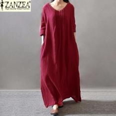zanzea-women-elegant-muslim-dress-fall-linen-long-sleeve-casualpleated-loose-retro-maxi-long-tunic-dress-red-intl-2563-89718483-beadab417dca9bc9feb539fce60bfe98-catalog_233 Inilah List Harga Busana Muslim Yang Elegan Terlaris saat ini