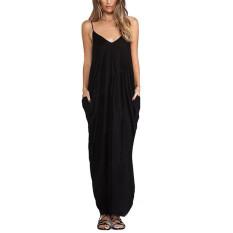 Zanzea Women Ladies S*Xy V Neck Summer Boho Maxi Long Evening Party Beach Dress Intl Asli