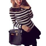 Beli Zanzea Perempuan Sweatshirt Lama Rajutan Renda Lengan Baju Kaos Bujur Baru