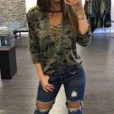 Spesifikasi Zanzea Wanita Blus Kemeja Wanita Berlengan Panjang Untuk Up V Blusas Leher Kasual Fashion Kamuflase Print Tops Intl Murah Berkualitas