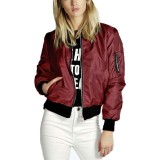 Beli Zanzea Wanita Jaket Wanita Pembom Empuk Klasik Vintage Ritsleting Jaket Pengendara Bermotor Secara Angsuran