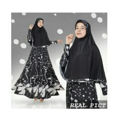 zaskia syari hitam pakaian hijab gamis muslim baju wanita