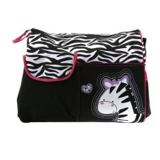Zebra Pattern Multi-Function Large Capacity Baby Diaper ChangingpadTravel Mummy Bag Tote Handbag (Pink) - intl