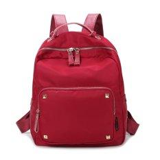 ZeeBee Fashion Oxford Backpack / Tas Ransel Wanita / Tas Fashion-Red