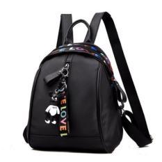 ZeeBee Lovely Oxford Backpack Tas Ransel Wanita - FREE Gantungan Tas Boneka