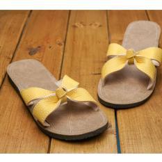 Zelig Official Sandal slop motif gelung Wanita-sandal casual wanita cantik/sandal kulit sintetis wanita