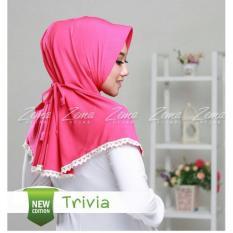 Jual Zema Trivia Jilbab Instan Warna Hot Pink