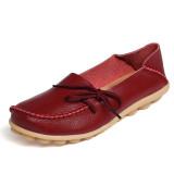 Tips Beli Zenol Sepatu Mengemudi Wanita Lace Up Wanita Loafers Flat Sepatu Intl