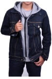 Miliki Segera Zens Jaket Ariel Denim Hoodie Best Seller Black Grey