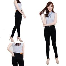 Spesifikasi Zfashion Celana Jeans Wanita Terbaru High Waist Black Hitam Polos 27 30 Murah Berkualitas