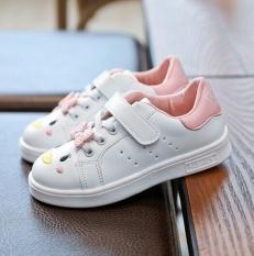 Diskon Produk Zh G*rl S Small Putih Sepatu Kasual Kartun Sport Sepatu Bernapas Nyaman Platform Sepatu Putih Intl