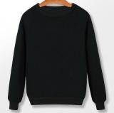 Zh Pria T Shirt Lengan Kepala Sweater Lengan Panjang Mantel Warna Sweater Kenyamanan Olahraga Terry Black Intl Tiongkok