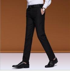 Beli Zh Men S Fashion Kasual Bisnis Bernapas Celana Hitam Intl Seken