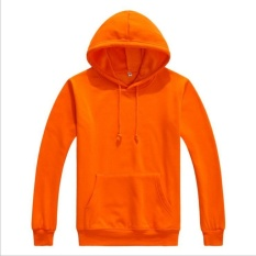 Zh Pria Sweater Hoodie Terry Head Set Longgar Sportswear Orange Intl Terbaru