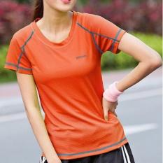Beli Zh Nn Hardly Breathe Penyerapan Keringat Cepat Kering T Shirt Orange Dengan Kartu Kredit