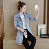Toko Zh Baru Ukuran Besar Wanita Ramping Denim Jaket Lengan Jaket Biru Muda Internasional Terlengkap Di Tiongkok