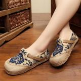 Jual Zh Old Beijing Comfortable Breathable Cotton Cloth Shoes Blue Intl Tiongkok