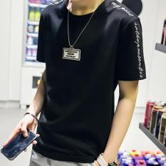Beli Zh Shopping Men S Casual Loose Seven Sleeve T Shirt Black Intl Murah Tiongkok